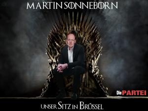 Unser Sitz in Brüssel - die PARTEI